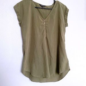 Express olive green blouse